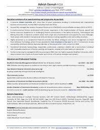 resume of financial controller ash domah detailed cv award winning financial controller