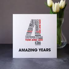 personalised anniversary card by mrs l cards notonthehighstreet