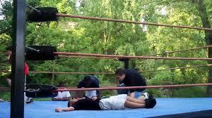 backyard wrestling ring party youtube