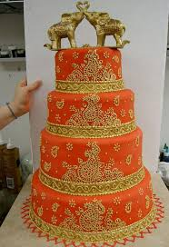 elaborate gold cake wedding cakes consist of simple red wedding