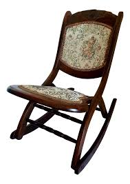 Bent Wood Rocking Chair Antique Folding Rocking Chair Chairish