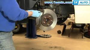 how to install replace front brake pads rotors ford crown victoria