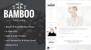 bamboo elegant simple html5 blog template by xgio themeforest