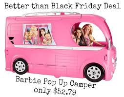 amazon prime black friday 79 better than black friday deal now barbie pop up camper only 52 79