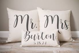 mr and mrs pillow mr and mrs pillow sets 3 wedding pillows set custom