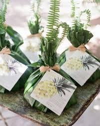 hawaiian themed wedding favors welcome gifts were traditional pu olo which means bundle in