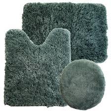 Bathroom Rug Sets 3 Piece by Lavish Home 3 Piece Super Plush Non Slip Bath Mat Rug Set
