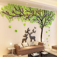 online get cheap tree sticker wall decor aliexpress com alibaba 2017 elk trees 3d stereo wall stickers living room sofa tv background crystal wall stickers room