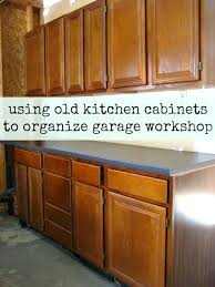 kitchen cabinets in garage how to install old kitchen cabinets in garage workshop diy ideas