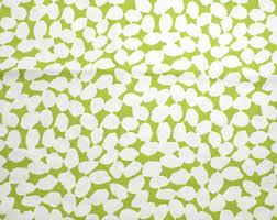 Yellow Home Decor Fabric Green Home Decor Etsy