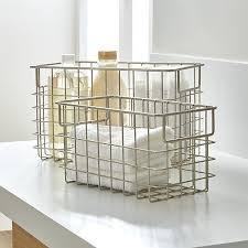 Crate And Barrel Shower Curtains Wire Baskets Crate And Barrel