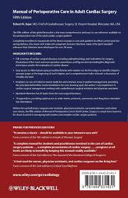 manual of perioperative care in cardiac surgery amazon co