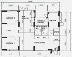 Watermark Floor Plan Floor Plans For Hougang Avenue 4 Hdb Details Srx Property