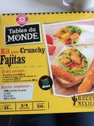kit cuisine du monde kit fajitas tables du monde croustillant
