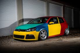 slammed volkswagen golf vw golf modified u2014 vw golf harlequin why did they only make it for