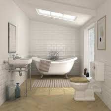 roll top bath shower roll top bath in front of window with blue