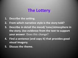 themes in the story the lottery a short story the lottery by shirley jackson ppt video online