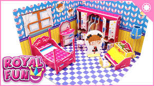 doll house diy building a miniature toy dollhouse youtube arafen