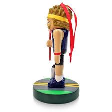 runner nutcracker resin ornament for a run