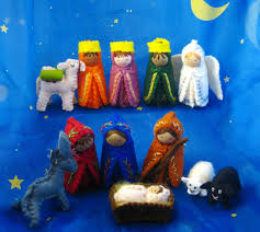 hand painted nativity set great gift for christmas free