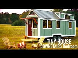House Plans With Downstairs Master Bedroom Tiny House Downstairs Bedroom Bear U0027s Tiny Homes Youtube