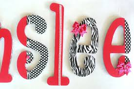 decorations chic nursery wooden name letters beautiful nursery