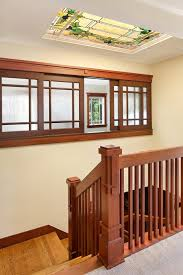 Banister Wall Seattle Stair Banister Ideas Entry Traditional With Black Stairs
