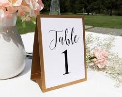 table numbers wedding gold table numbers etsy