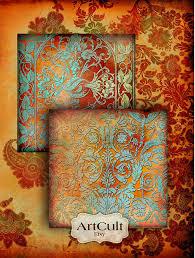 digital collage sheet paper ornaments unique backgrounds