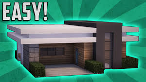 minecraft how to build a small modern house tutorial 11 youtube