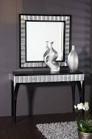 Silver Console Table Console Table Ideas Classy Black And Mirrored Console Table For