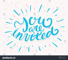 despedida invitation you invited invitation card hand lettering stock vector 318759452