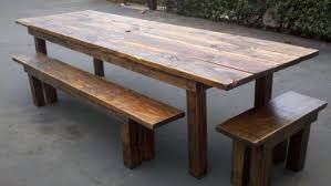 Wooden Table With Bench Long Wooden Table Top Tags Long Wooden Table Antique Cherry Drop