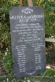 Wedding Program Chalkboard Extra Large Custom Painted Chalkboard Wedding Program And Welcome