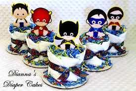 superhero babies mini diaper cakes baby shower centerpieces set