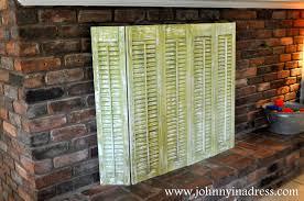 diy fireplace screen for summer fireplace renovation prjct