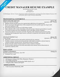 credit manager resume bank manager resume template resume