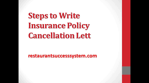 Termination Notice Sample by Steps To Write Insurance Policy Cancellation Letter 2016 Youtube