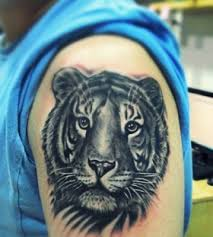 small tiger on arm tattoomagz