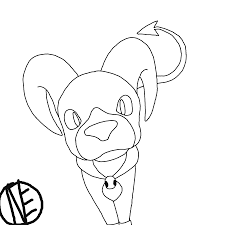 curious houndoom lineart by neothebean on deviantart