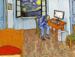 vincent van gogh bedroom parody of van gogh s bedroom and starry night art parodies