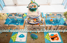bright and chic octonauts birthday party birthday party ideas