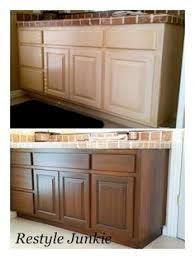 diy gel stain cabinets no heavy sanding or stripping wood grain