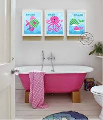 celebrity homes amazing kids bathroom wall décor ideas