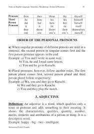 english langauge booklet advanced