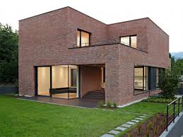 modern brick house it s intriguing to see a modern house done completely in brick