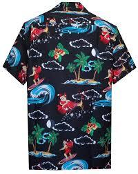 hawaiian shirt mens santa claus aloha