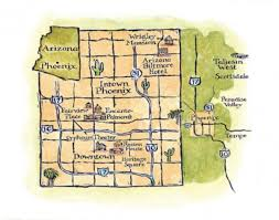 Map Of Greater Phoenix Area by Arts U0026 Crafts In Arizona Arts U0026 Crafts Homes And The Revival