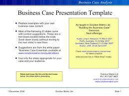 business case template ppt business case template powerpoint