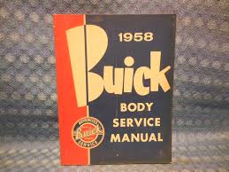 1958 buick original body service manual special century